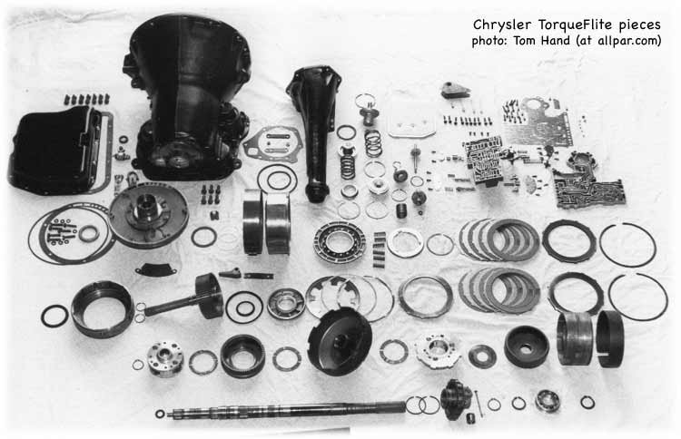 Chrysler torqueflite transmission parts