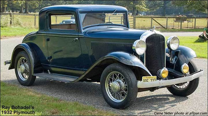 1932 Plymouth PB Coupe cars