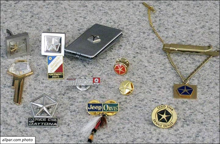 pendants and pins