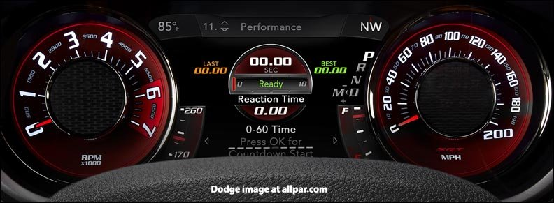 2015 dodge challenger srt gauges