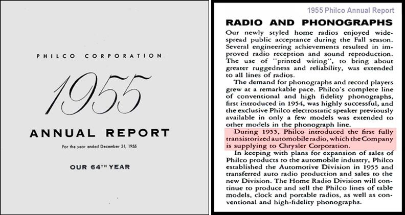 philco 1955 annual report