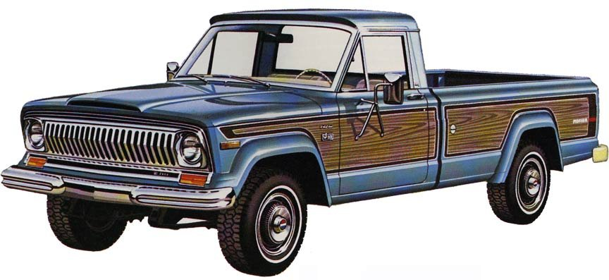 1975 and 1976 jeeps cj cherokee wagoneer and pickup 1976 jeep pickup