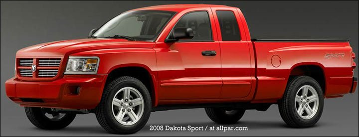 2008 dakota sport pickups