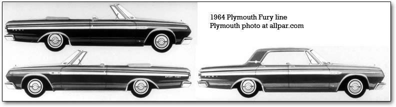 1964 Plymouth Fury lineup