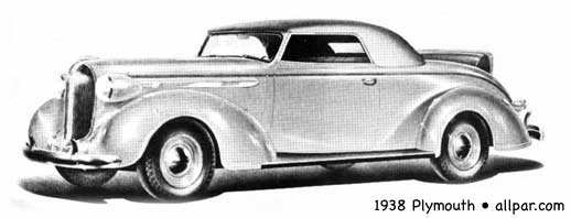 1938 Plymouth car in profile