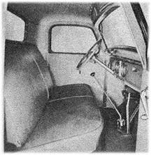 inside Plymouth delivery sedans