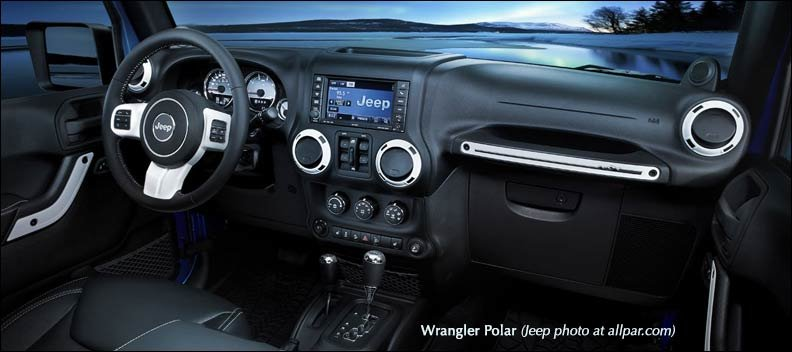 inside Jeep Wrangler Polar