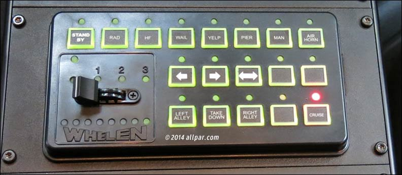 police car siren and flasher controls
