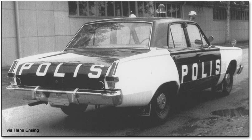 Valiant police car (polis)
