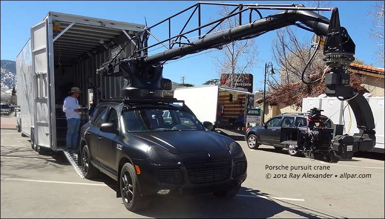 porsche used in filming commercial