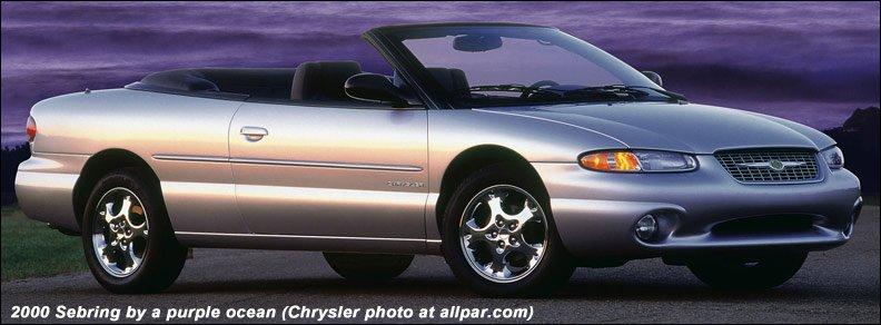 The Original Chrysler Sebring Convertible 1996 2000