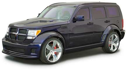 purple Dodge Nitro for SEMA