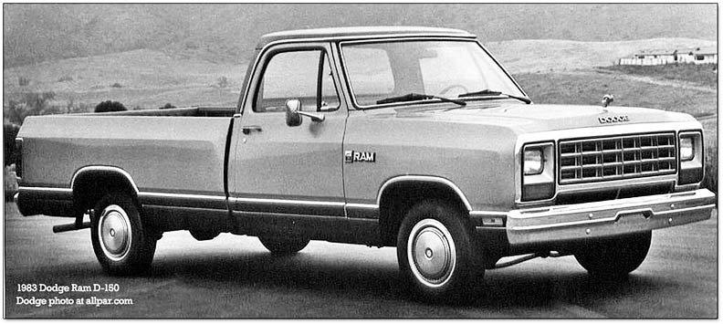 1983 Dodge trucks and vans