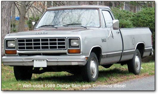 1989 Dodge Ram: launching the mins diesel powered pickups