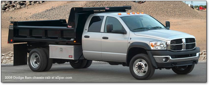 2008-2010 Dodge Ram 4500 and 5500 heavy duty chis cabs