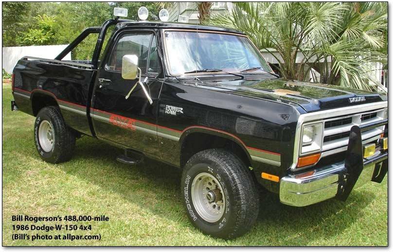 Bill Rogerson's 488,000-mile 186 Dodge W-150 4x4 Pickup Truck