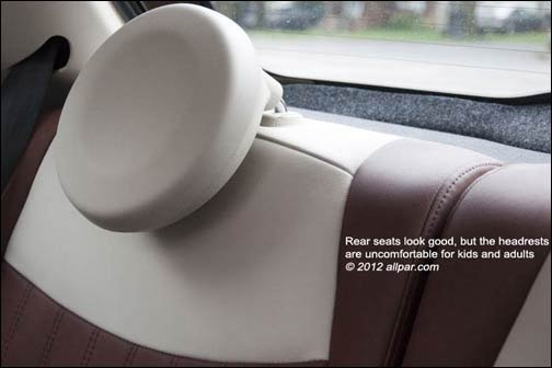 fiat 500 rear headrests