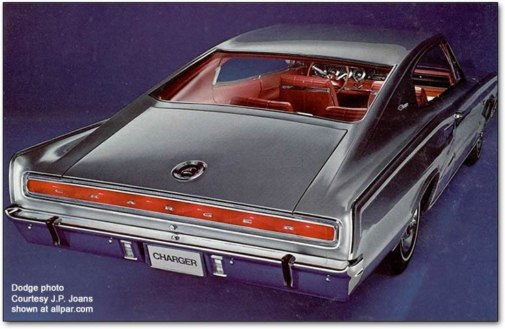rear of the 1966 dodge charger