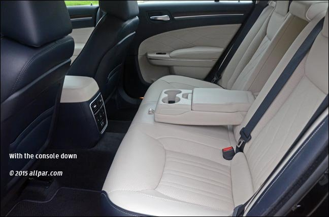rear seats with console down