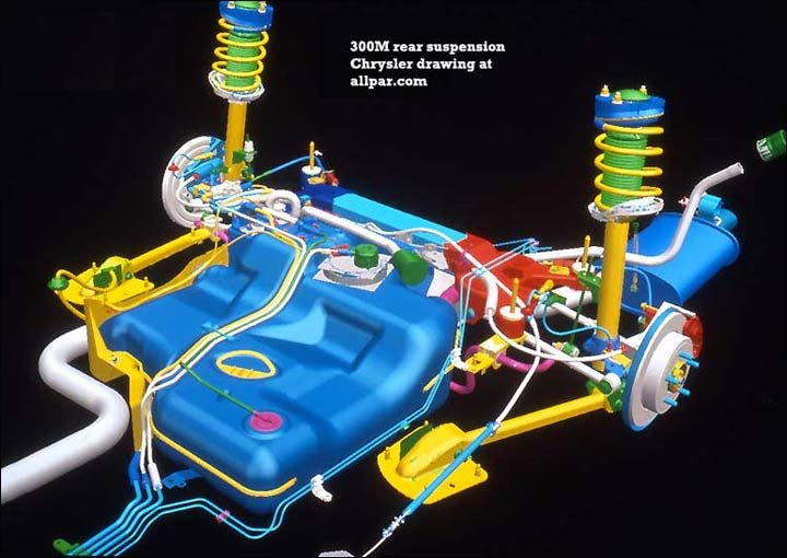 Rear Suspension on Chrysler 300m Wiring Diagram