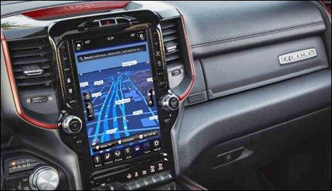 2021 Ram 1500 Rebel navigation screen