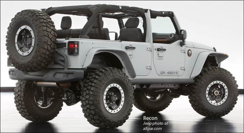 Jeep Wrangler Recon 2013 Mopar Moab Concept