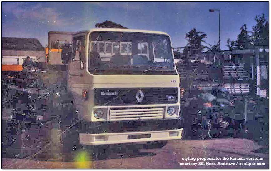 renault - commer - dodge 100 commercial trucks