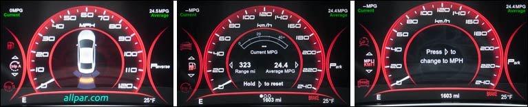 Custom Digital Gauge Cluster : Custom gauges the chrysler configurable dashboard display