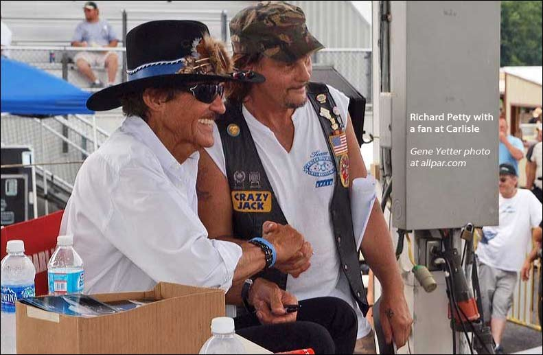richard petty and fan