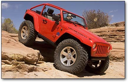 Jeep Wrangler rock climbing lower forty