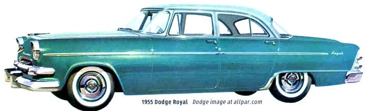 Dodge cars of 1955 including royal and coronet for 1955 dodge coronet 4 door