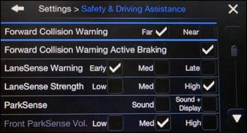 safety settings