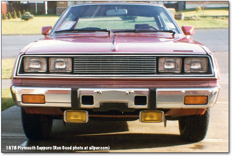 Plymouth Sapporo front end