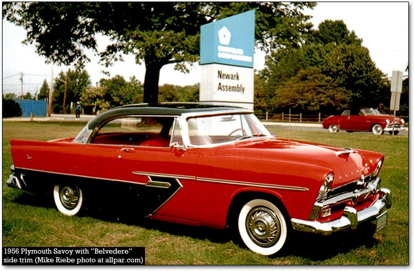 1956 Plymouth Savoy with Sportone trim