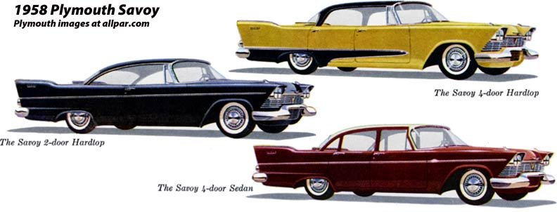 Plymouth Cars 1958 More Of The Same