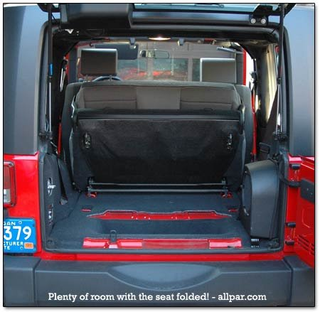 jeep with seat folded