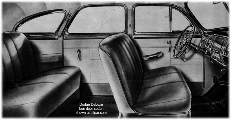 1946 Dodge car seats
