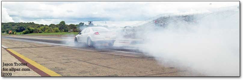 chrysler sebring on drag strip