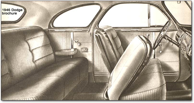 sedan interior chrysler corporation postwar models 1946 1948 (plymouth, dodge  at sewacar.co