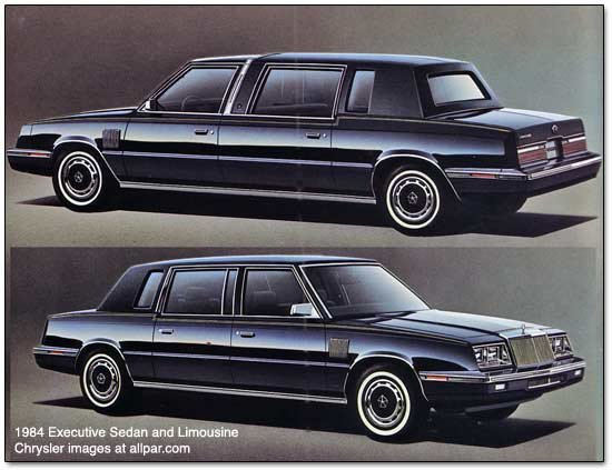 chrysler executive and limousine