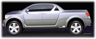 2006 dodge rampage concept car - side view
