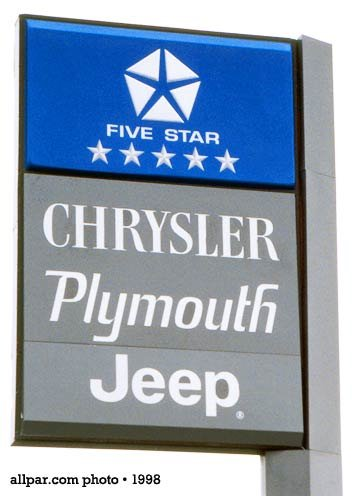 chrysler sign, 1998
