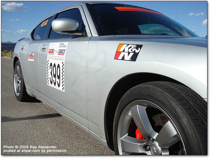 Dodge Charger SRT8 at the Silver State Challenge race
