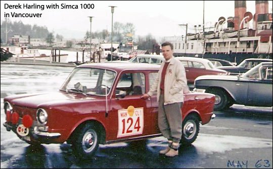 derek harling with simca mille in vancouver