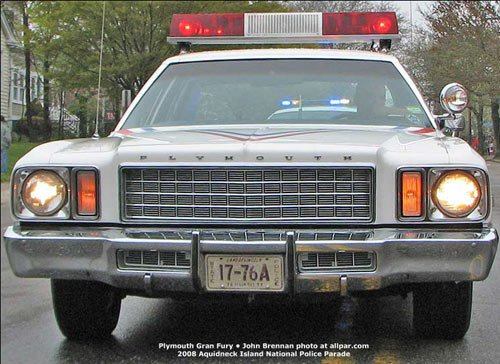 Chrysler, Plymouth, and Dodge fleet cars - police cars