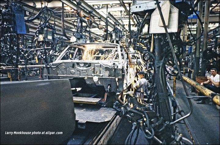 body welding at Windsor Chrysler plant