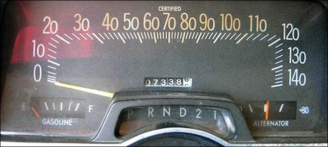 1974 police calibrated speedometer