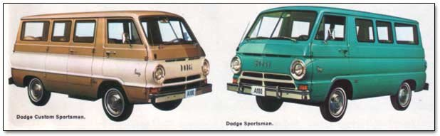 dodge sportsman vans