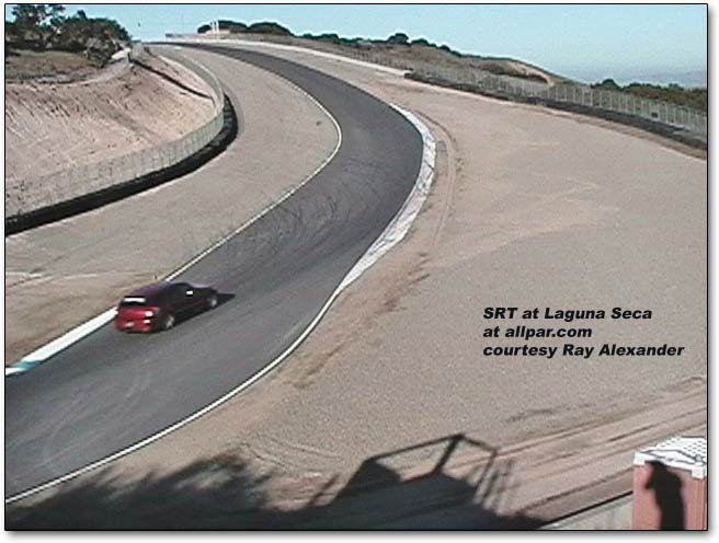 SRT going up the Laguna Seca hill