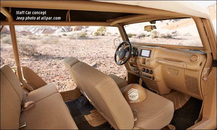 inside the 2015 Jeep Staff Car concept